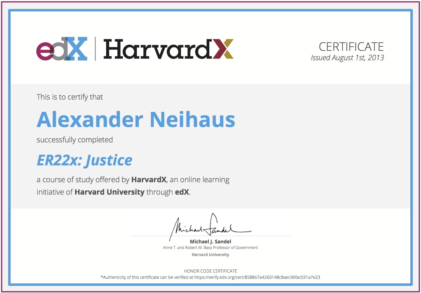 My Er22x Certificate From Harvardx Thinking Aloud
