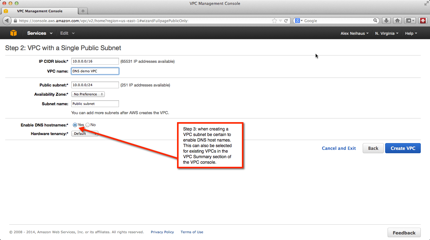 Setting up DNS in your AWS VPC   Thinking aloud