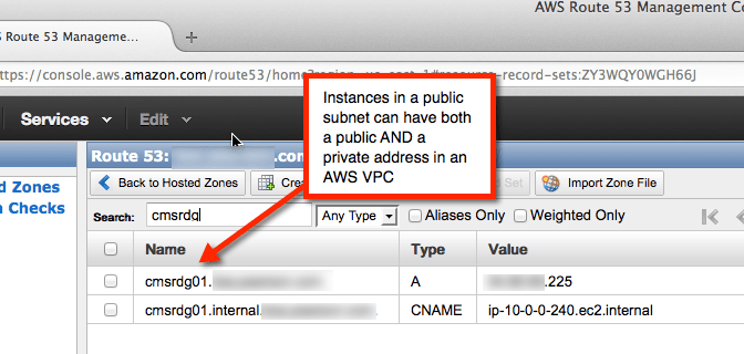 An EC2 instance with both an internal and external DNS entry (click to enlarge)