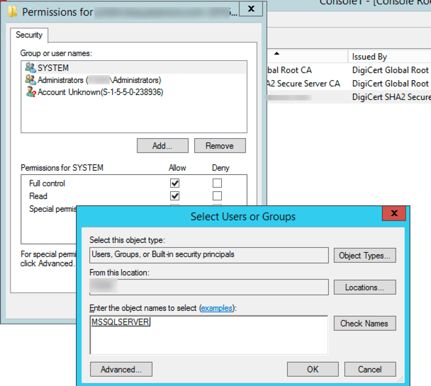 How to install SQL Server and SSRS SSL certificates | Thinking aloud
