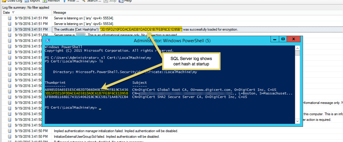 How To Install Sql Server And Ssrs Ssl Certificates Thinking Aloud